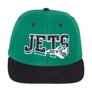 New York Jets Wave Green/Black Plastic Snapback Adjustable PlasticCap
