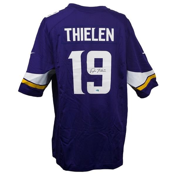 official photos f06c0 4eb55 Shop Adam Thielen Signed Vikings Nike Replica Game Jersey ...