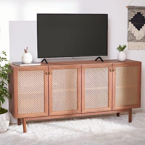 "SAFAVIEH Piran 63-inch 4-Door Storage Media TV Stand - 63.1"" W x 16.3"" L x 31.7"" H"
