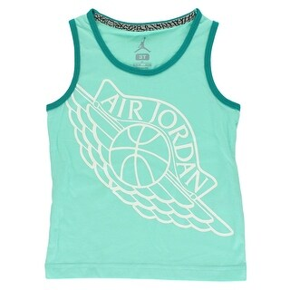 Jordan Baby Girls Wings Tank Top Aqua Blue - Aqua Blue/White