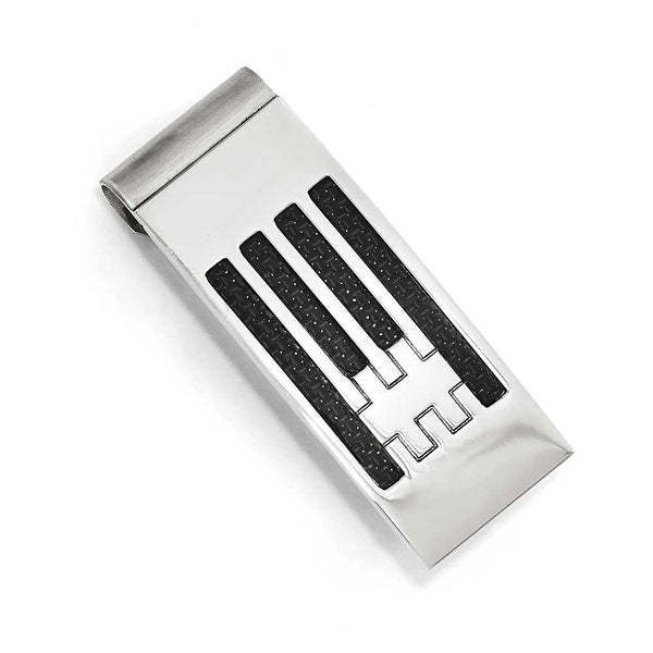 Chisel Stainless Steel Polished Carbon Fiber Money clip