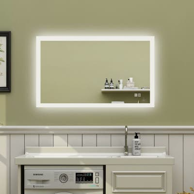 ExBrite 40 x 24 inch,Anti Fog,LED Bathroom Mirror,Backlit,Dimmable,Waterproof IP44,Both Vertical and Horizontal Wall Mounted