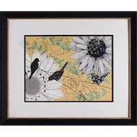 20 x 24 in. Birds On A Wire I Framed Floral Art Print