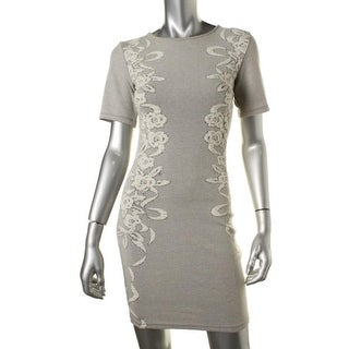 French Connection Womens Textured Short Sleeves Casual Dress - 12