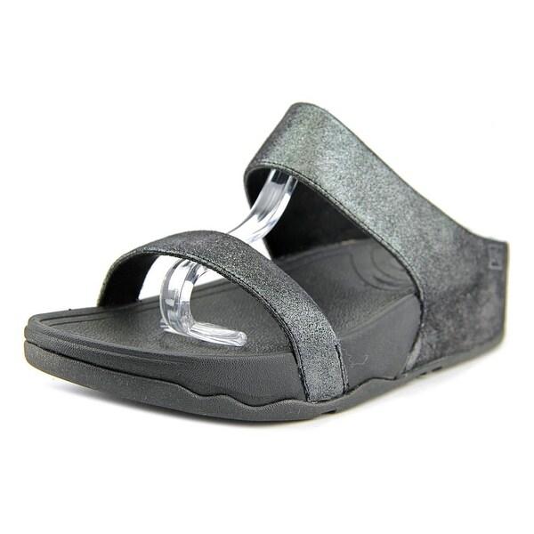 FitFlop Lulu Open Toe Canvas Slides Sandal