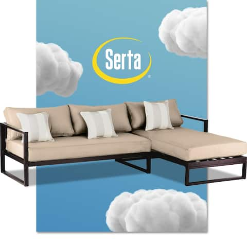 "Serta Catalina Outdoor 99"" Sectional in Bronze"