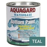 Aquagard Waterbased Bottom Paint Quart Teal - 10005
