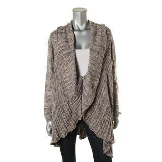Nic + Zoe Womens Cable Knit Drapy Cardigan Sweater