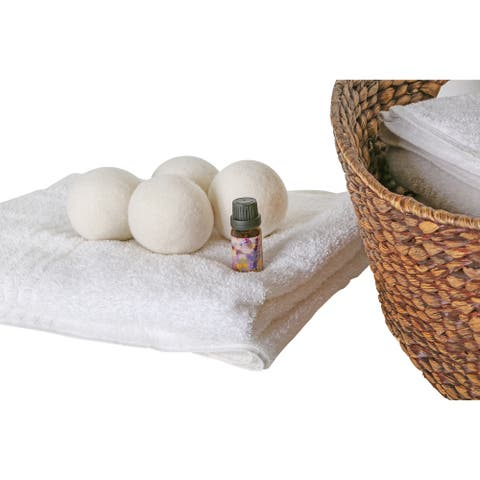 Woolite 4 Pack Wool Dryer Balls and Fresh Linen Essential Oil Kit - 2.83x2.83x2.83