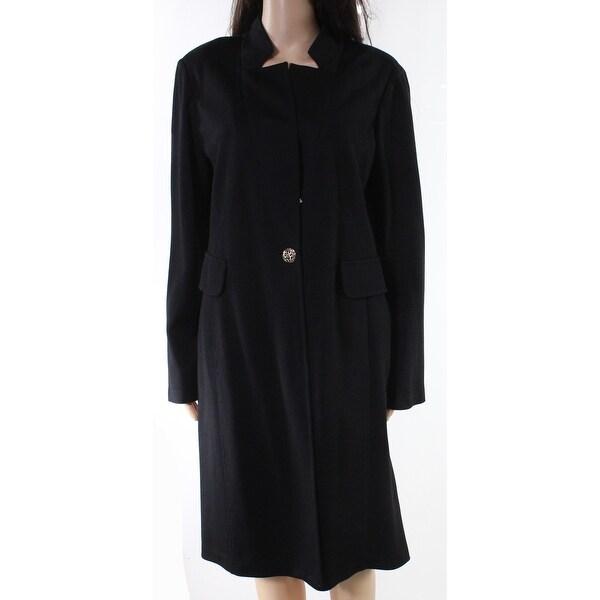 Designer Brand Black Womens Size Medium M Open Front Blazer Jacket