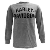 Harley-Davidson Men's T-Shirt, Long Sleeve Tee, Heritage H-D Gray 30296638