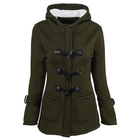 Horn Buckle Coat Female Thickening