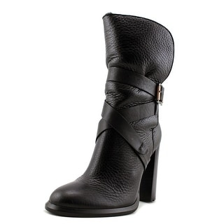 Calvin Klein Jeans Tanya Women  Round Toe Leather Black Ankle Boot