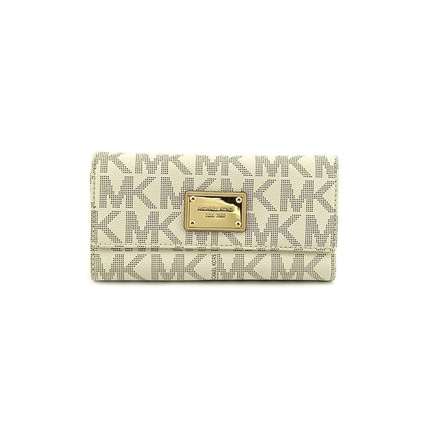 08b3a33150af Shop Michael Michael Kors Womens Mk Jet Set Checkbook Wallet - Free  Shipping Today - Overstock - 23073965