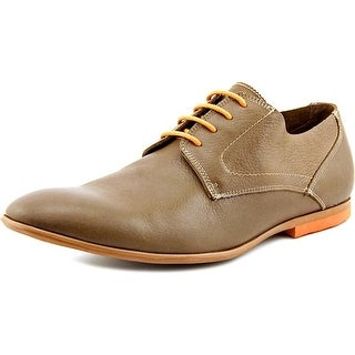 Kenneth Cole Reaction Flag Down Men Round Toe Leather Brown Oxford