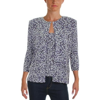 Alex Evenings Womens Twinset Padded Shoulders Embellished