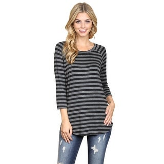 Riah Fashion's Everyday Half Inch Striped Tunic
