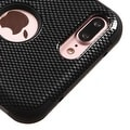 Insten Black Carbon Fiber Tuff Hard PC/ Silicone Dual Layer Hybrid Rubberized Matte Case Cover For Apple iPhone 7 Plus - Thumbnail 2