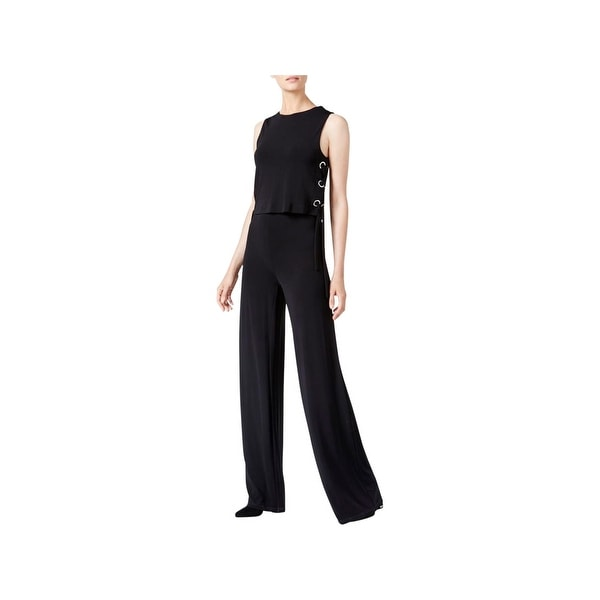 a7a59bc6f62 Shop MICHAEL Michael Kors Womens Jumpsuit Lace Up Popover - Free Shipping  Today - Overstock - 22649451