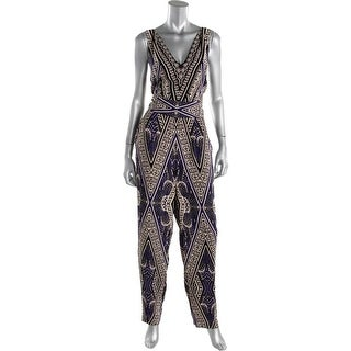 Cynthia Steffe Womens Cross Back V neck Jumpsuit - 12