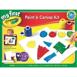 Crayola My First Paint and Canvas Kit