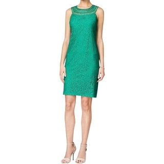 Jessica Howard Womens Casual Dress Lace Stretch