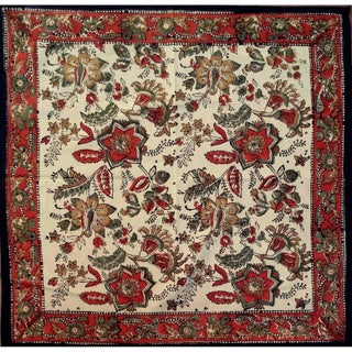 """Handmade Jaipur Floral Print 100% Cotton Tablecloth Earthen Round 72"""" Square 60x60 Rectangle 60x90 Napkin 18x18 Placemats (5 options available)"""