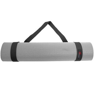 ProSource Yoga Mat 100% Durable Cotton Easy-Cinch Sling Carry Strap Harness Carrier - Black