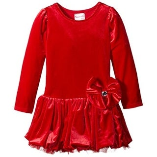 Nannette Toddler Velvet Party Dress - 4T