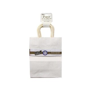 "Darice Paper Crafter Bag 8x10.25"" Value Pk White"
