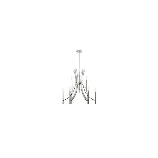 Designers Fountain 84589 Cordova 9-Light 2 Tier Up Lighting Chandelier - Chrome