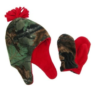 Grand Sierra Boys' 2-4 Fleece Camouflage Hat and Mitten Winter Set - One size