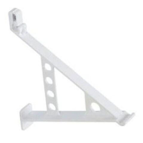 "Rubbermaid 3F58-LW-WHT Rack Shoe Fast Set, 12"", White"