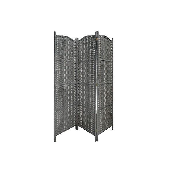 3 Panel Woven Bamboo Screen (rowan). Opens flyout.