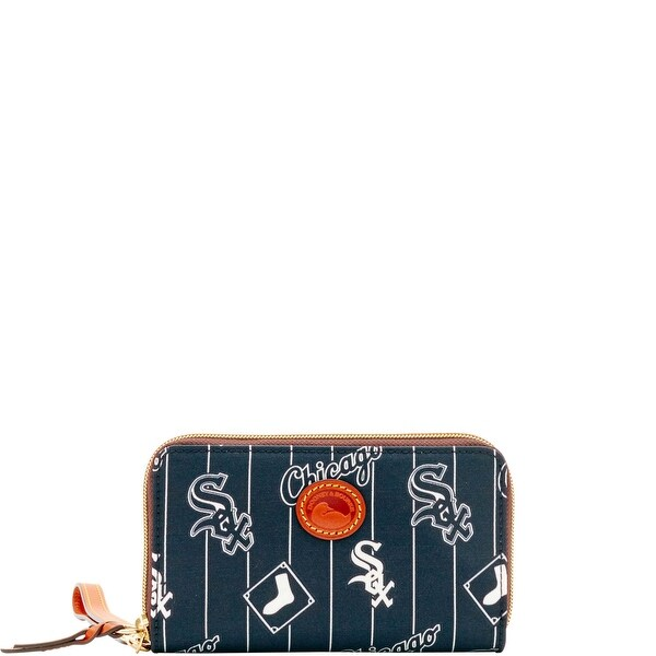 Dooney & Bourke MLB White Sox Zip Around Phone Wristlet (Introduced by Dooney & Bourke at $118 in Mar 2016) - white sox