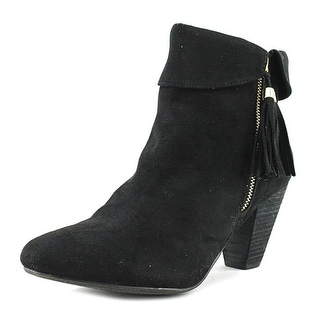 Report Moriah Women  Round Toe Suede Black Ankle Boot