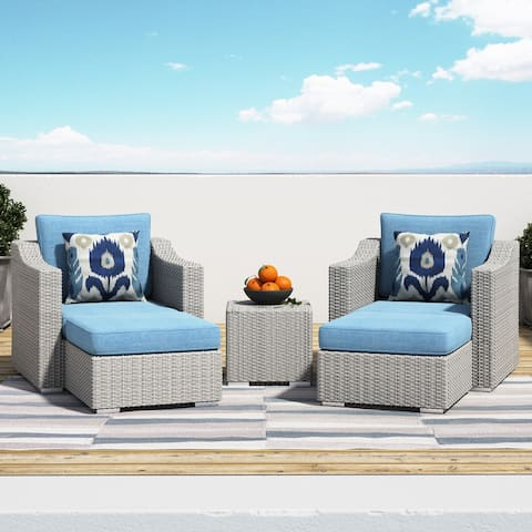 Corvus Martinka Outdoor 5-piece Grey Wicker Furniture Set