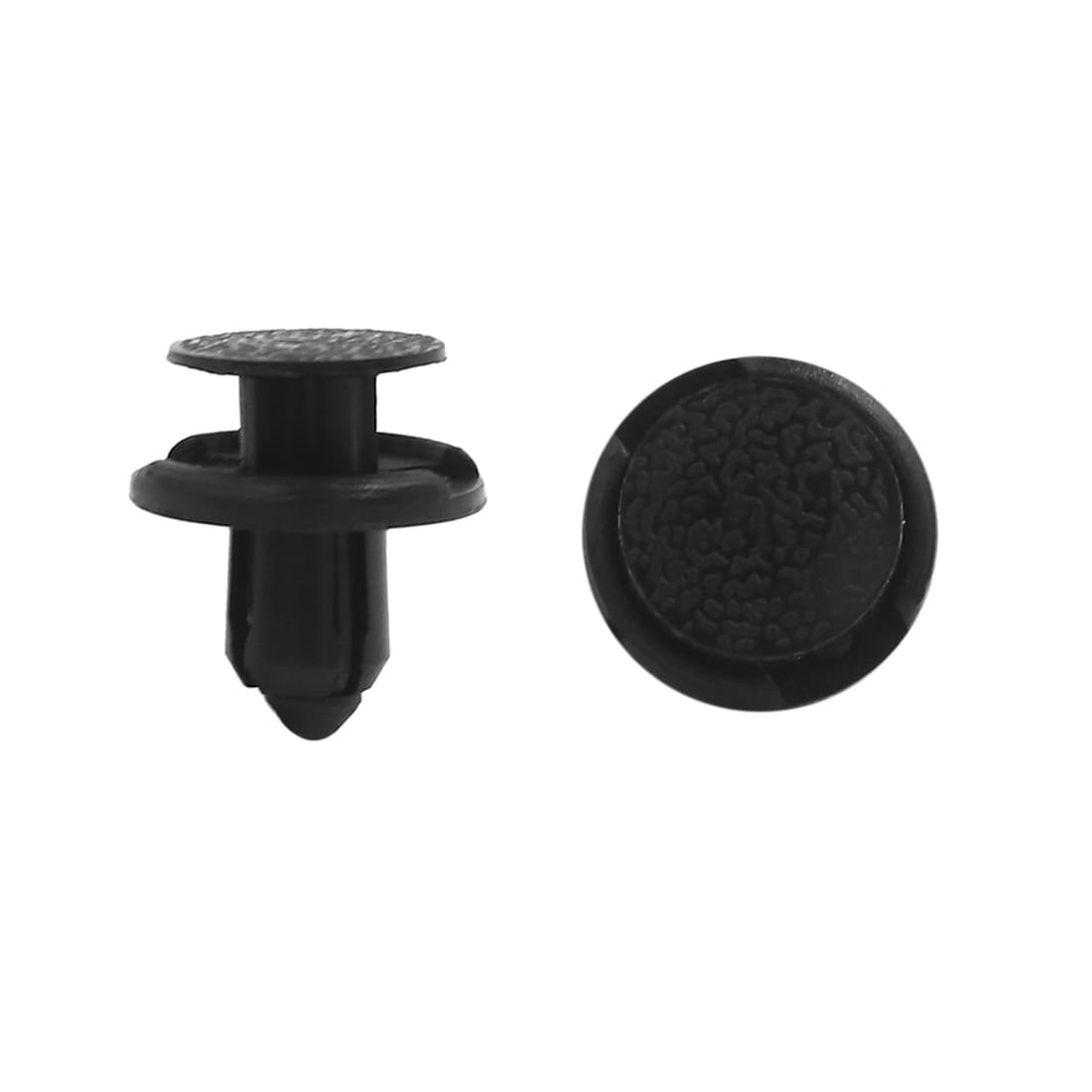 100 x 9mm Hole Dia Plastic Rivets Fastener Push Clips Black for Car Auto Fender