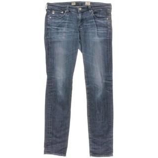 Adriano Goldschmied Womens Aubrey Low Rise Skinny Fit Straight Leg Jeans - 30