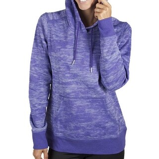 Jockey NEW Purple Women's Size Small S Pocket Burnout Fleece Hoodie