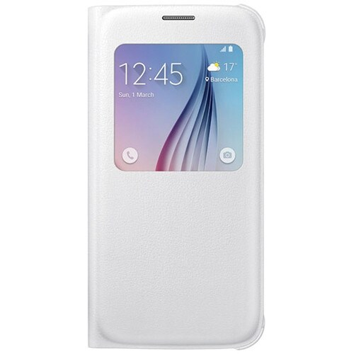 Samsung S-View Flip Cover for Samsung Galaxy S6 - White Pearl S-View Flip Cover
