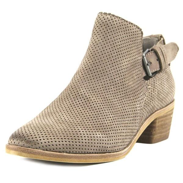 Dolce Vita Kara Women Round Toe Leather Tan Ankle Boot