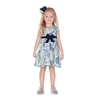 Pulla Bulla Toddler Girl Infant Floral Style Bow Dress
