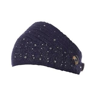Snowy Snapdragon Sparkling Knit Winter Headband