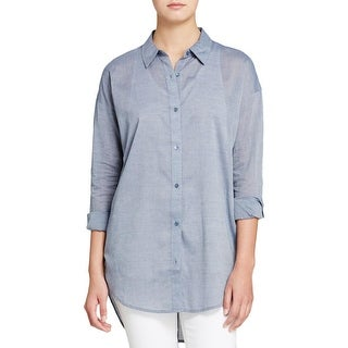 Eileen Fisher Womens Casual Top Collar Long Sleeves - ps