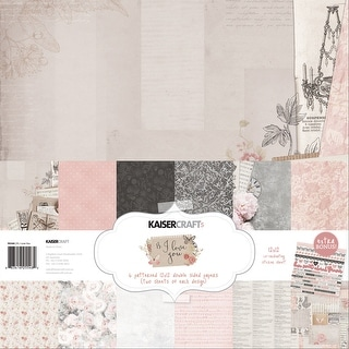 "Kaisercraft Paper Pack 12""X12"" 12/Pkg-P.S. I Love You"