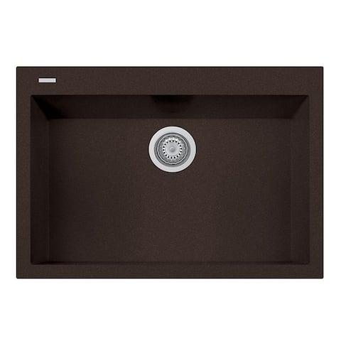 "Handmade Single Basin Granite Drop-In Sink - 30"" x 20"""