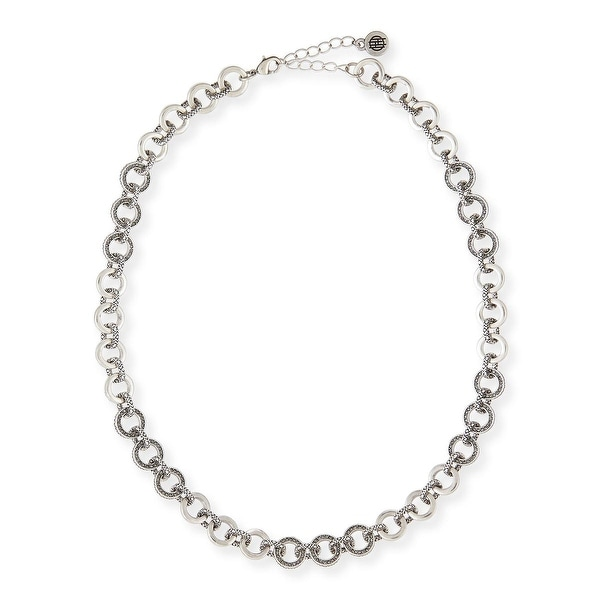 House of Harlow by Nicole Richie Womens Eternal Link Chain Necklace Round - Silver