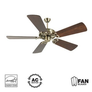 """Craftmade K10926 CXL 54"""" 5 Blade Energy Star Indoor Ceiling Fan - Blades Included - Antique Brass"""