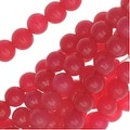 Candy Jade Gemstone Beads, Round 4mm, 15 Inch Strand, Raspberry Red - Thumbnail 0
